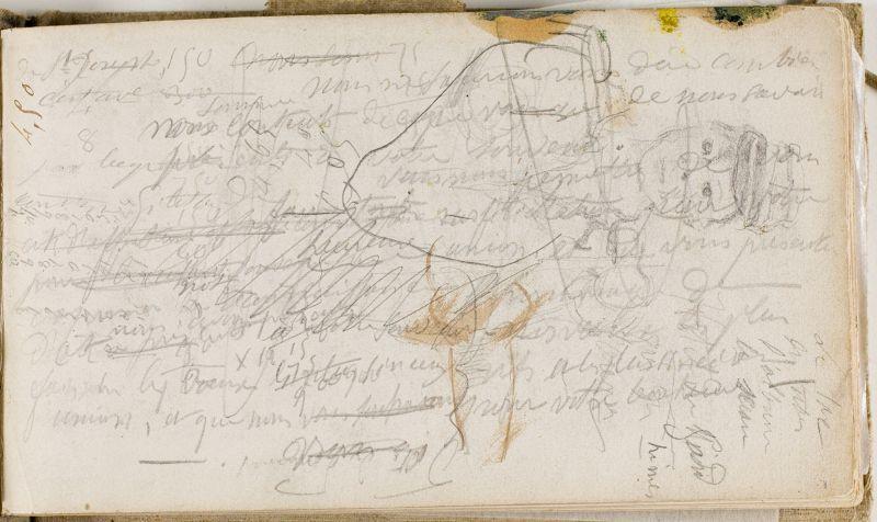 Brouillon de lettre; dessins d'enfant, n.d. (3006-01a)