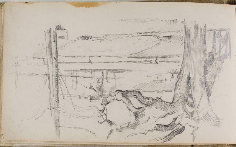 Paysage avec arbres, 1885–87 (3006-31b)