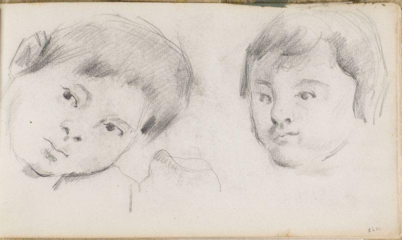 Deux têtes du fils de l'artiste, c.1876 (3006-43a)