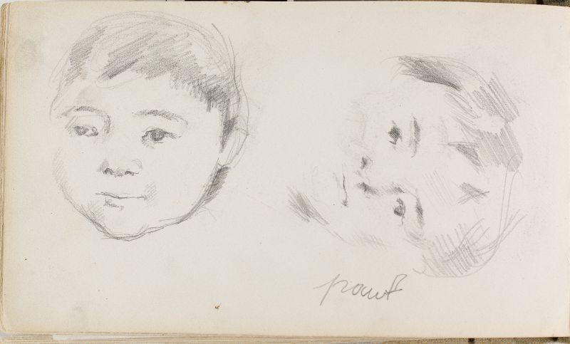 Deux têtes du fils de l'artiste, 1877–78 (3006-48b)