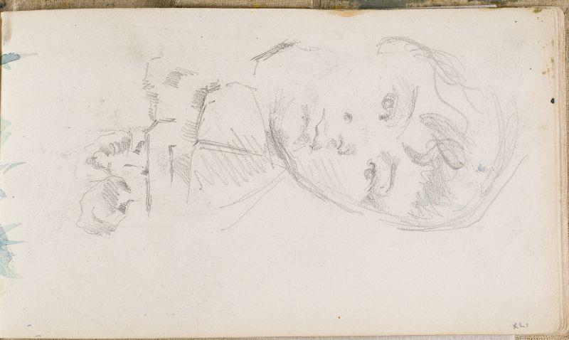 Portrait du fils de l'artiste et rochers à Bibémus, c.1878 (3006-41a)