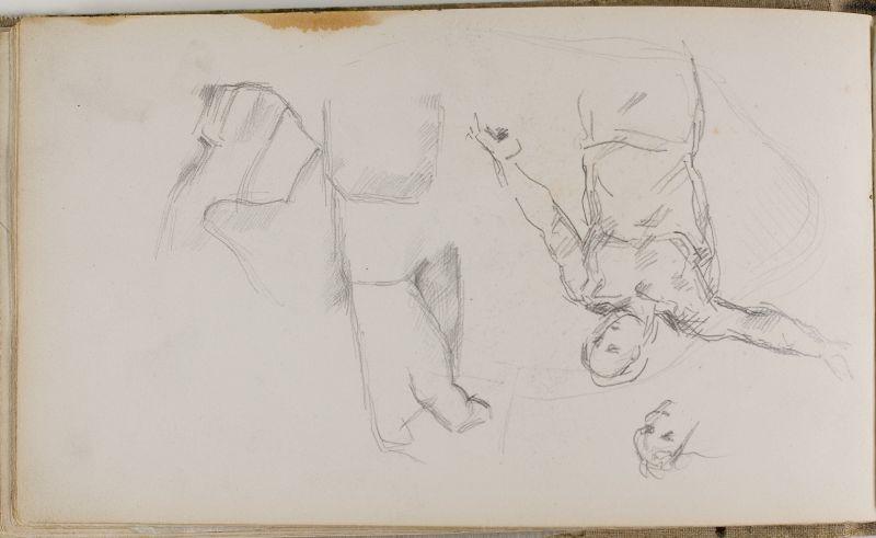 Baigneur debout et autres esquisses, 1874–77 (3006-22b)