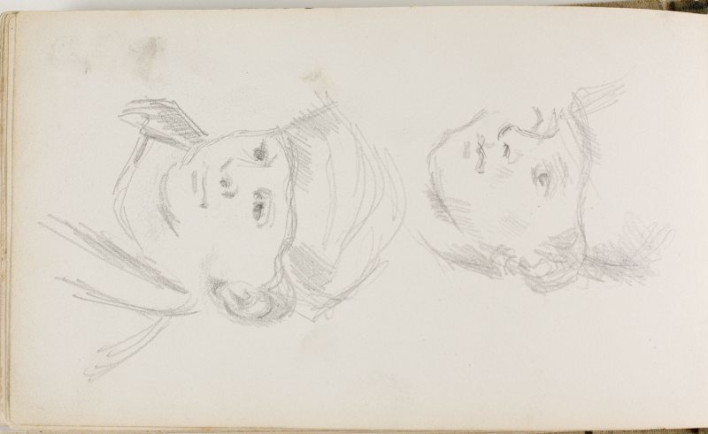 Deux études du fils de l'artiste, c.1878 (3006-44b)