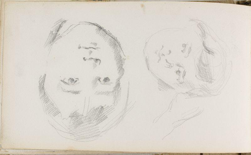 Deux têtes du fils de l'artiste, 1877–78 (3006-43b)