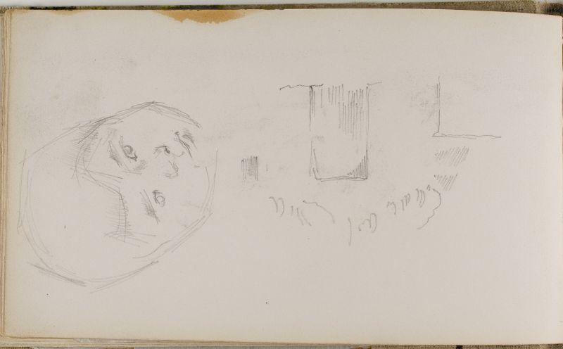 Esquisse de porte et tête du jeune Paul, c.1876 (3006-24b)