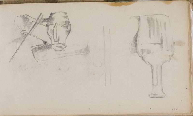 Carafe, pichet à eau chaude, et bûches, 1880–83 (3006-27a)