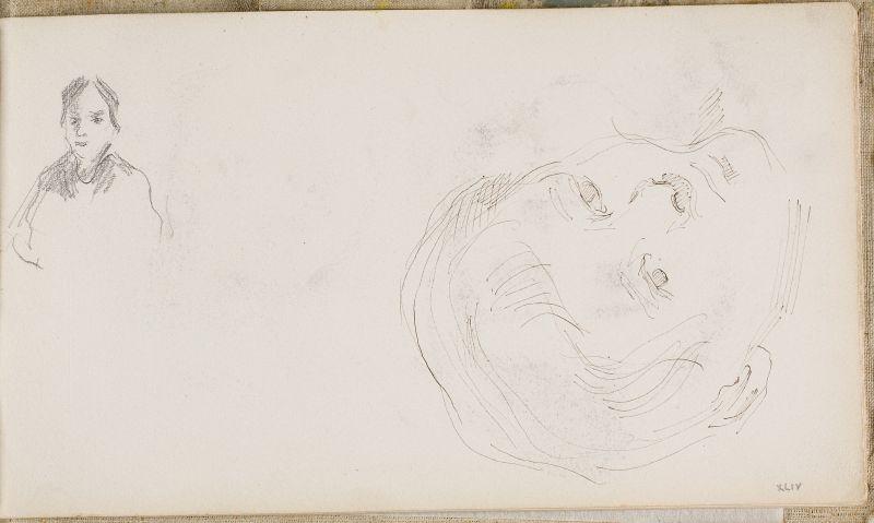 Tête de garçon et esquisse de femme, c.1878 (3006-44a)