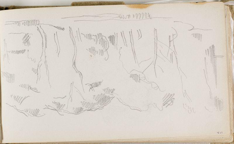 Paysage avec arbres, c.1874 (3006-07a)