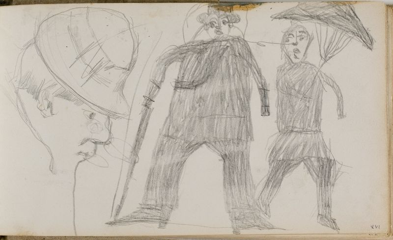 Tête d'homme; gribouillage du fils de l'artiste, n.d. (3006-16a)