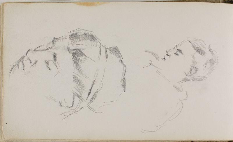 Deux esquisses de têtes, 1882–85 (3006-36b)