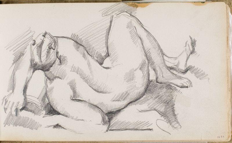 D'après Delacroix: allégorie d'un fleuve, 1878–81 (3006-04a)