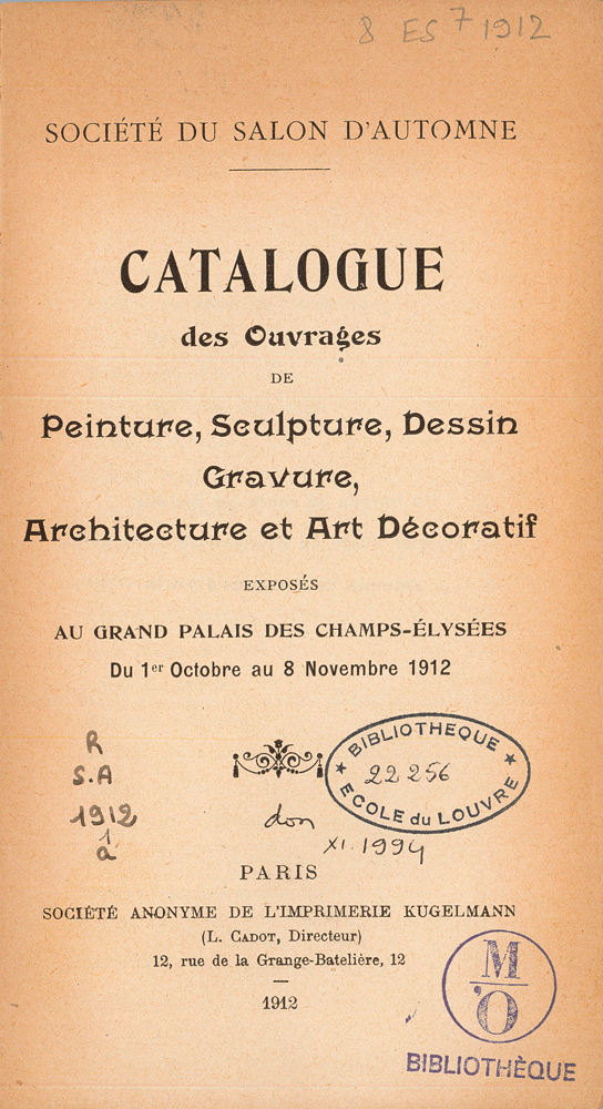 catalogue title page