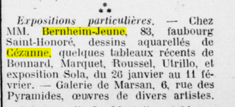 <i>Le Journal des arts</i>, January 28, 1925, p. 1