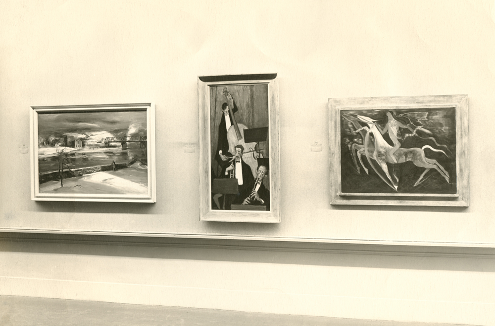 <i>River Wall</i> installed in the gallery.