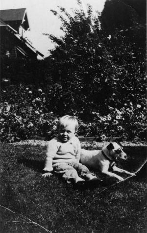Sam Francis in San Mateo, California, 1925