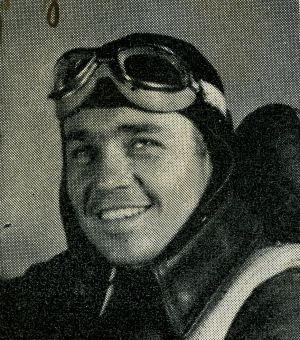 Francis as an aviation cadet in Morton Air Academy yearbook, fall 1943.